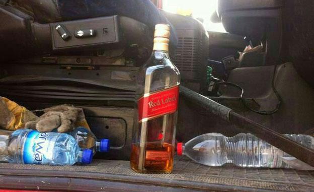 הוויסקי שנמצא ברכבו של נהג המשאית