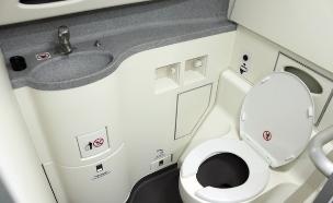 שירותים במטוס (צילום: אימג'בנק / Thinkstock)