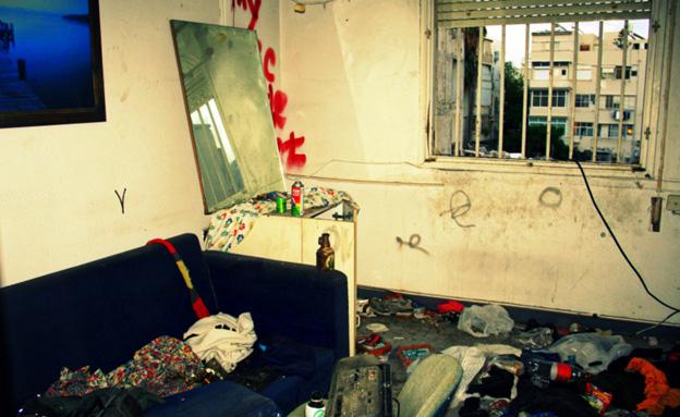 זולה של צעירים חסרי בית (צילום: רעות גיא)