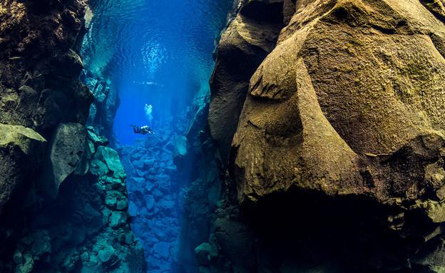 בין הסלעים, צלילה בין יבשות (צילום: Alex Mustard)