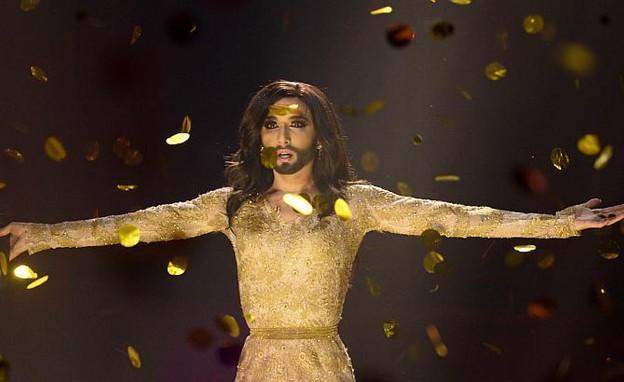 קונצ'יטה וורסט זוכה באירוויזיון (צילום: JONATHAN NACKSTRAND, GettyImages IL)