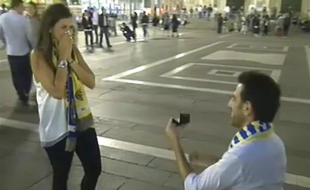 צפו: הצעת נישואים בפיינל פור (צילום: חדשות 2)