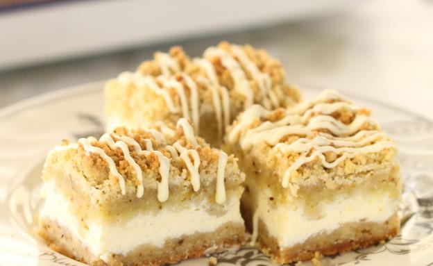 עוגת גבינה, שוקולד לבן ופיסטוק - גובה (צילום: חן שוקרון, אוכל טוב)