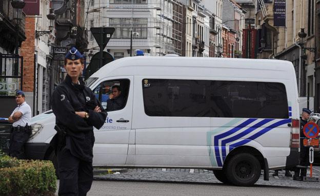 כוחות משטרה בלגיים (צילום: רויטרס)