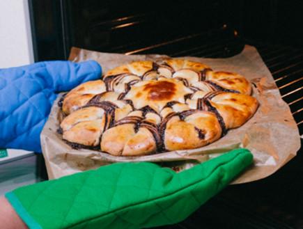 עוגת שמרים קלועה (צילום: מתוך הבלוג handimania.com)