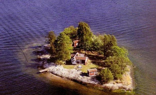 אי המחשבות, מבט מלמעלה (צילום: Fredrik Härén)