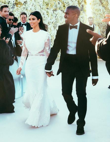 קים וקניה חתונה  (צילום: ערוץ אי)