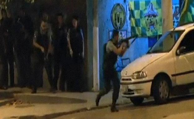 צפו בתקרית בברזיל (צילום: AP)