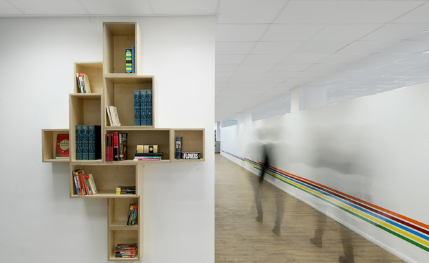 ספריות. מגדל שלום, ספיבק פרידלר עיצוב פנים (צילום: גדעון לוין)