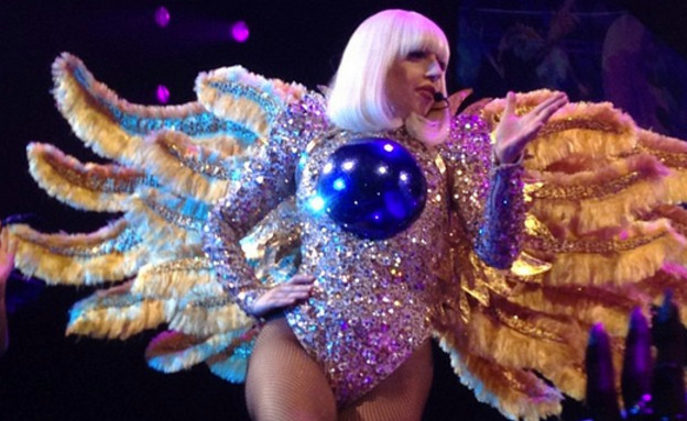ליידי גאגא במופע ארטרייב (צילום:  Photo by Flash90)