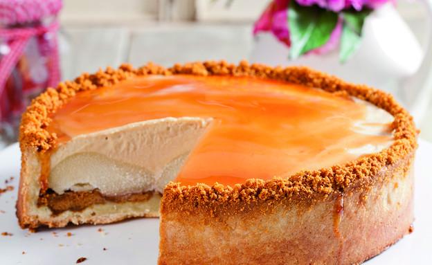 עוגת אגסים וקרם לוטוס (צילום: בועז לביא, לוטוס)