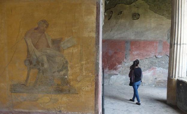 טיול באיטליה, פומפיי קיר (צילום: אייל שפירא)
