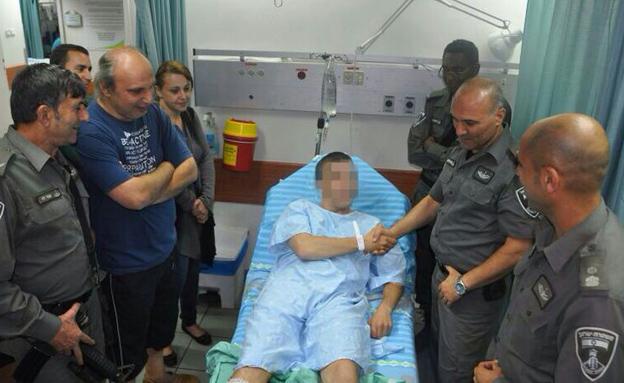 """הלוחם שנפצע בפיגוע (צילום: דוברות מג""""ב)"""
