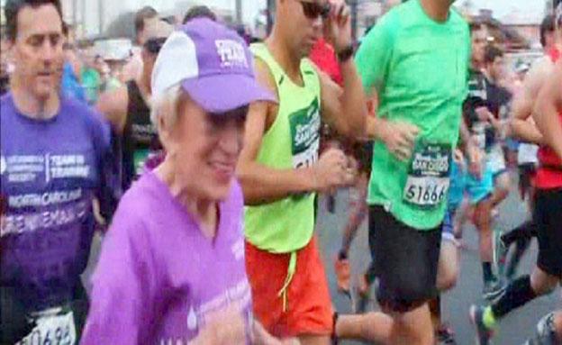 מרתון בגיל 91 (צילום: רויטרס)