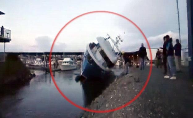 צפו בתאונה המצערת (צילום: youtube)