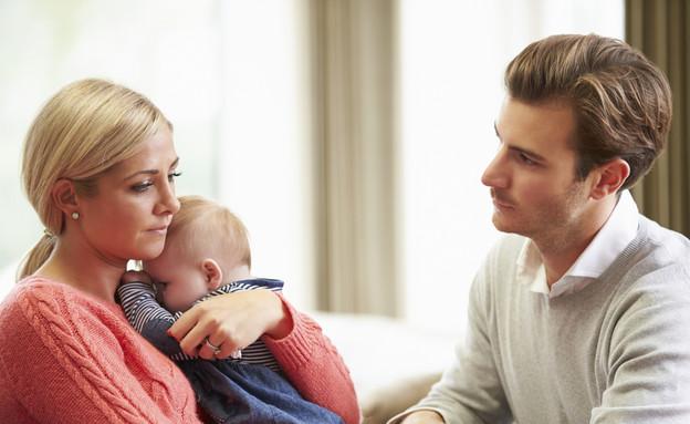 דיכאון אחרי לידה גברים (צילום:  THINKSTOCK)