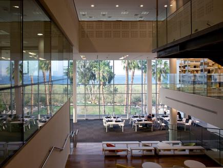 ספריות. מכללה אקדמית כנרת - נוף (צילום: עמית גירון)