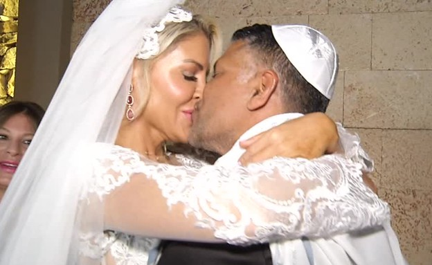 החתונה של עופר טלקר וג'ניפר סנוקל (תמונת AVI: mako)