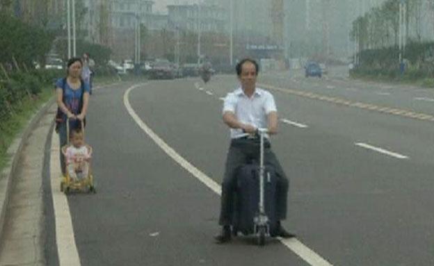 צפו בהמצאה החדשה: הקורקי-מזוודה (צילום: Reuters)