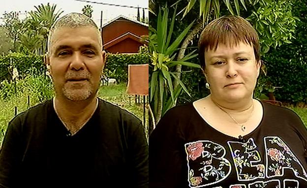 הורי הבנות מסביון (צילום: חדשות 2)