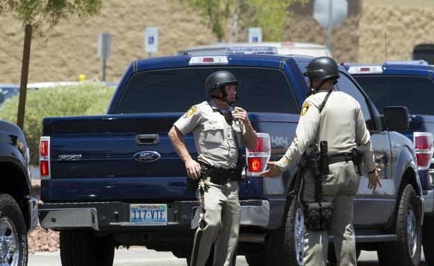 שני שוטרים נהרגו. זירת האירוע בלאס וגאס