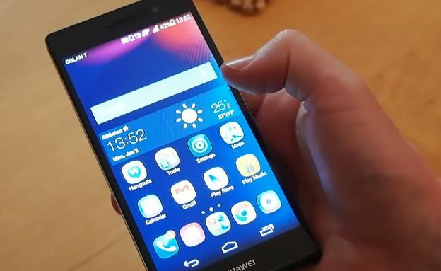 """הצצה ראשונה """"Huawei Ascend P7"""" (תמונת AVI: mako)"""