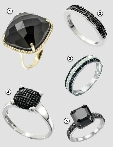 טבעות עם יהלומים שחורים