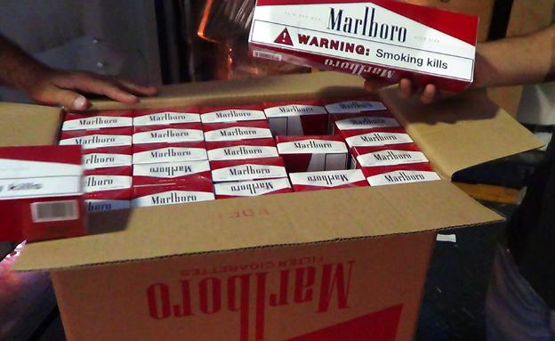 מלבורו, סיגריות, מכולה אשדוד (צילום: חדשות 2)