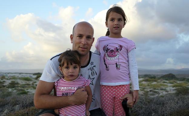 שי גל והבנות בים (צילום: שי גל 2, צילום ביתי)