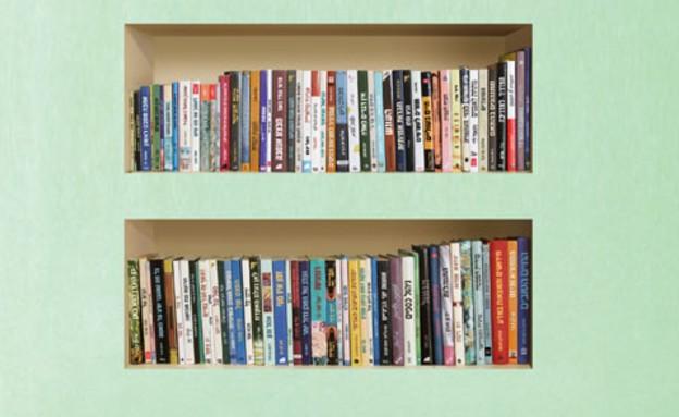 מדבקת ספרים בנישה, 91 שקלים. (צילום: יחסי ציבור (האגודה))
