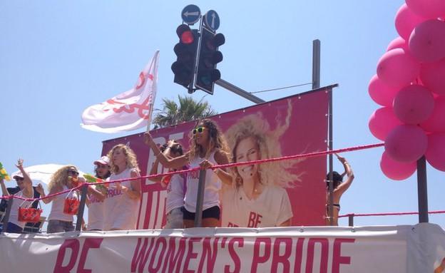 מצעד הגאוה 2014 משאיות (צילום: ג'ורג' אבני)