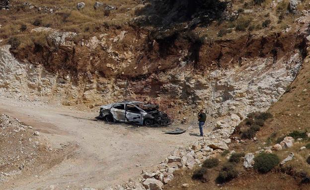 הרכב שבו לפי החשד נחטפו הנערים (צילום: רויטרס)