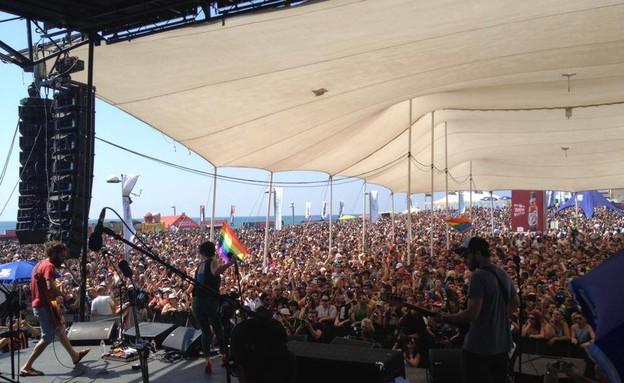 נינט במצעד הגאווה (צילום:  Photo by Flash90)