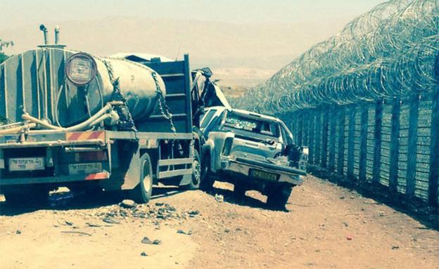 זירת התקרית בגבול סוריה