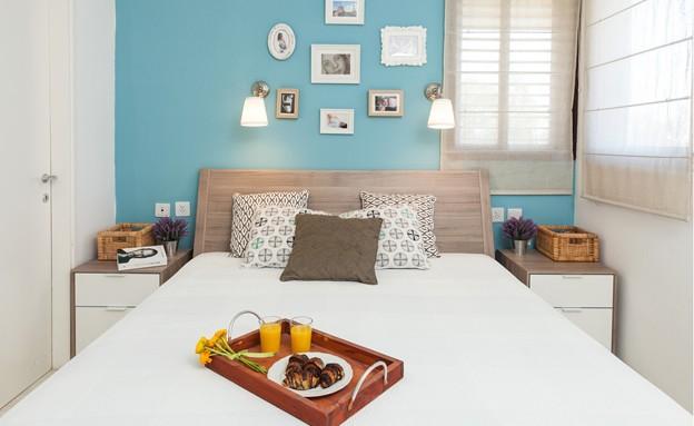 רמת השרון עדי גאלאי חדר שינה (צילום: אודי גורן)