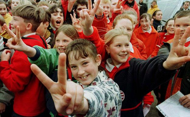 המדינה הטובה בעולם. ילדים באירלנד (צילום: רויטרס)