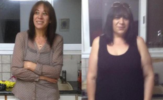 לילך אליה לפני ואחרי (צילום: לילך אליה, צילום ביתי)