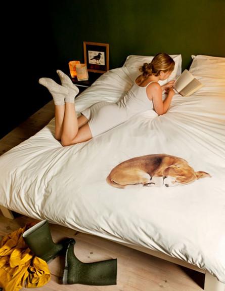 מצעים מגניבים כלב ישן (צילום:  snurkbeddengoed.nl)