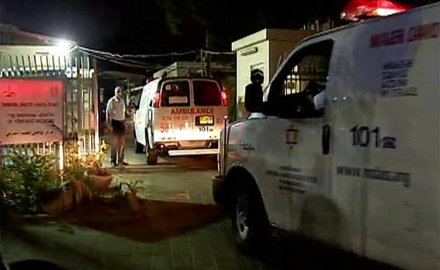 האמבולנס מגיע לאבו כביר (צילום: חדשות 2)