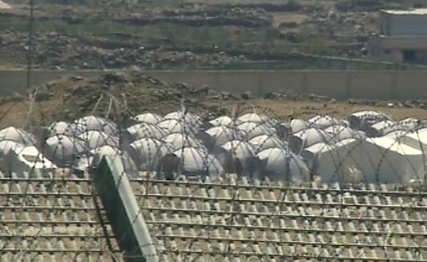 מחנה הפליטים בגבול הסורי (צילום: חדשות 2)