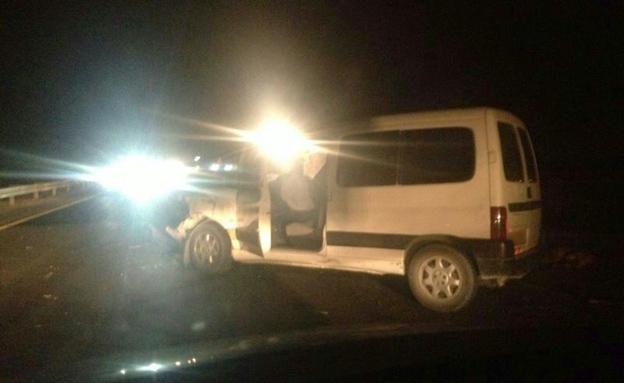 הנהג נפצע קל-בינוני. הרכב הפוגע