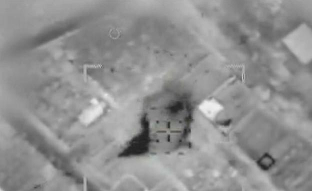תקיפת משגר טילים בעזה (צילום: חיל האוויר)