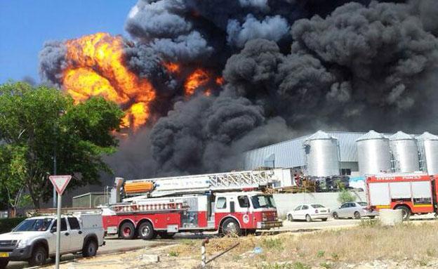 שריפה בעקבות פיצוץ בלון גז (ארכיון (צילום: דוברות כיבוי אש חדרה)
