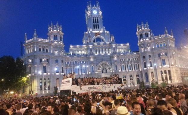 מצעד הגאווה במדריד. (צילום: טוויטר)