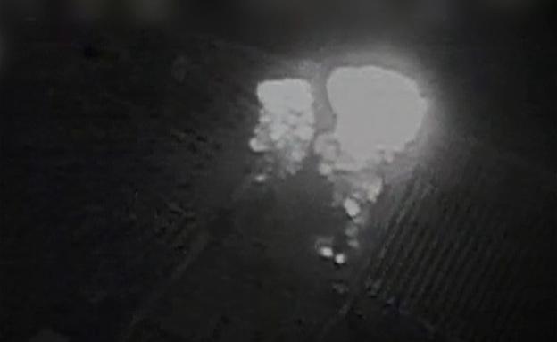 """תיעוד תקיפת מנהרת האמל""""ח (צילום: דובר צה""""ל)"""