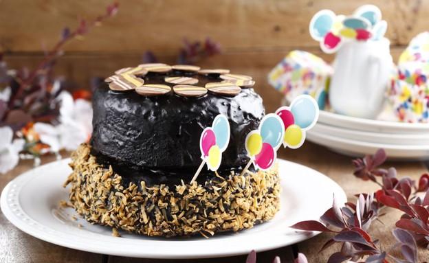 עוגת יום הולדת קומותיים (צילום: אפיק גבאי, אוכל טוב)