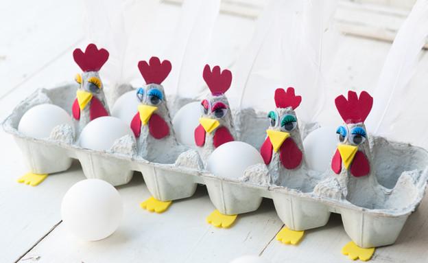 משחקים מקרטון ביצים, תרנגולייה (צילום: דנה ישראלי)