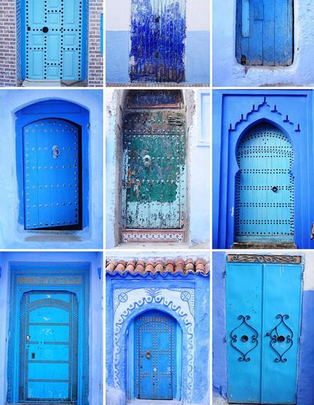 דלתות, מרוקו Chefchaouen, Morocco,Olga Osipova ציל