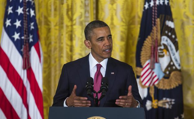 ברק אובמה  (צילום: WHITE HOUSE POOL (ISP POOL IMAGES), GettyImages IL)