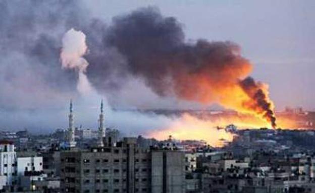 """תמונות סטילס מתקיפות חה""""א בעזה (צילום: חדשות 2)"""